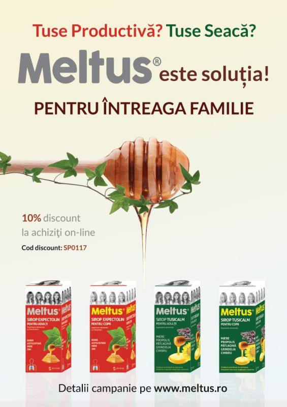 Gama de siropuri Meltus disponibilă acum și online  Rapid și econom pentru familia ta.