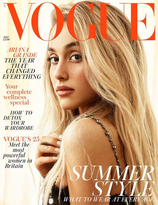 Ariana Grande este starul editiei britanice Vogue din luna iulie.