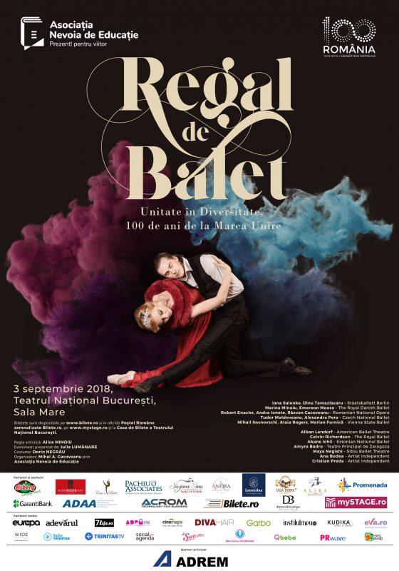 Regal de Balet: Spectacolul care reunește balerini români și străini din întreaga lume pentru a sărbători Centenarul Marii Uniri