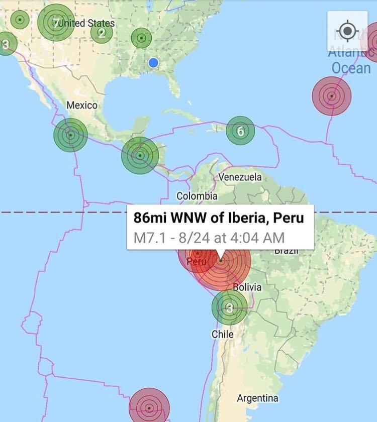 Cutremur cu magnitudinea de 7,1 grade în Peru