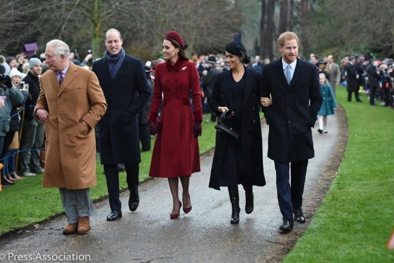 Meghan Markle şi Kate Middleton, împreună la slujba de Crăciun