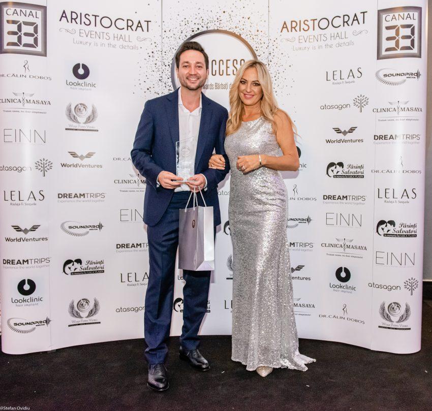 """Răzvan Dincă, antreprenorul din spatele WorldVentures, premiat în cadrul Galei I Success """"Celebrity Awards – Bărbați de Succes"""""""