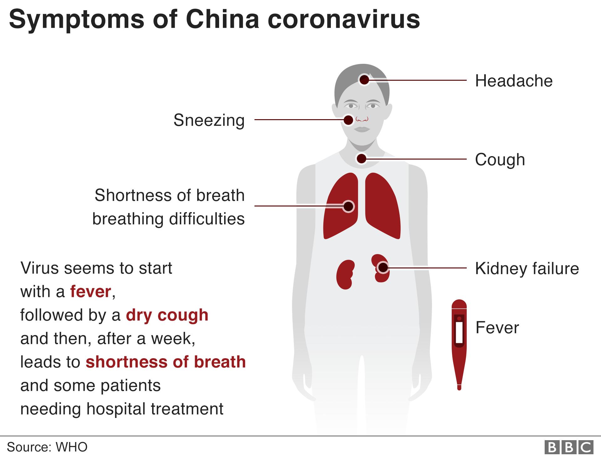 Schita simptomelor data de BBC