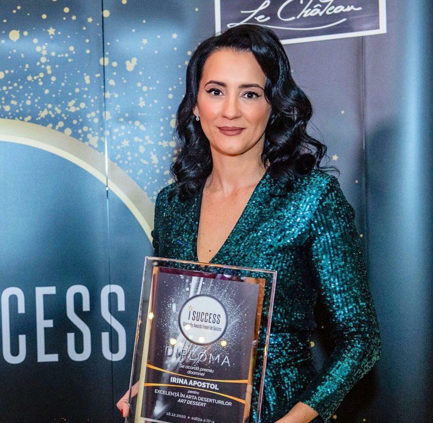 """Irina Apostol a fost premiată în cadrul galei ,,I Success – Femei de succes"""" 2020"""