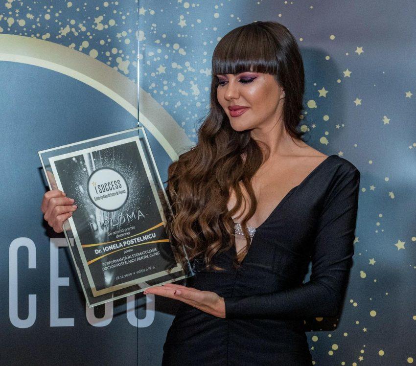 """Dr. Ionella Postelnicu a fost premiată în cadrul galei ,,I Success – Femei de succes"""" 2020"""
