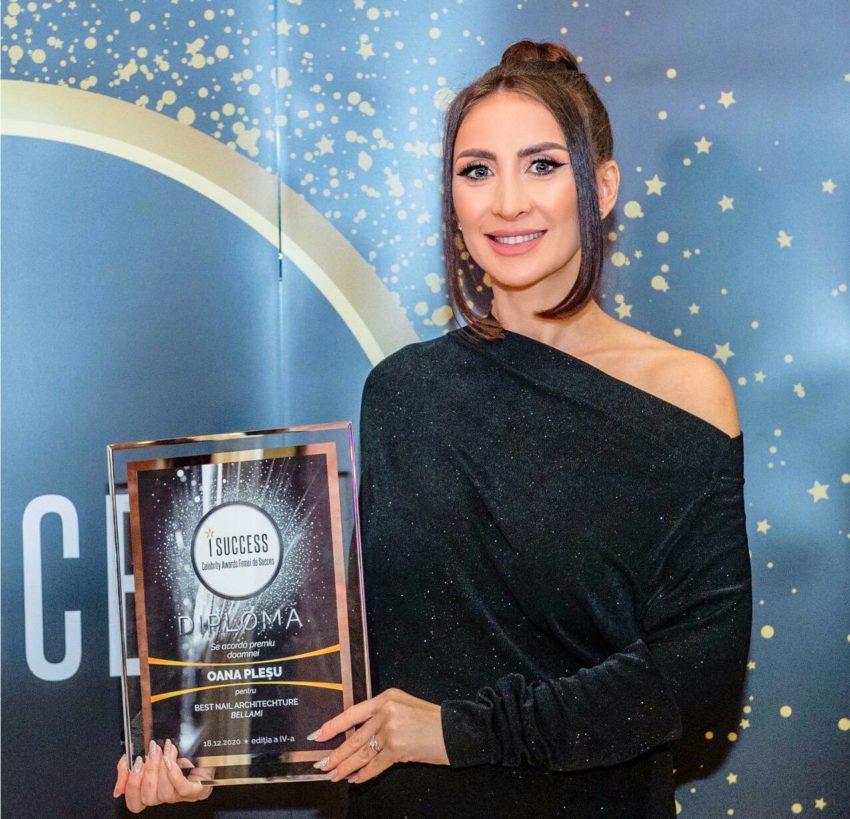 """Oana Pleșu a fost premiată în cadrul galei ,,I Success – Femei de succes"""" 2020"""