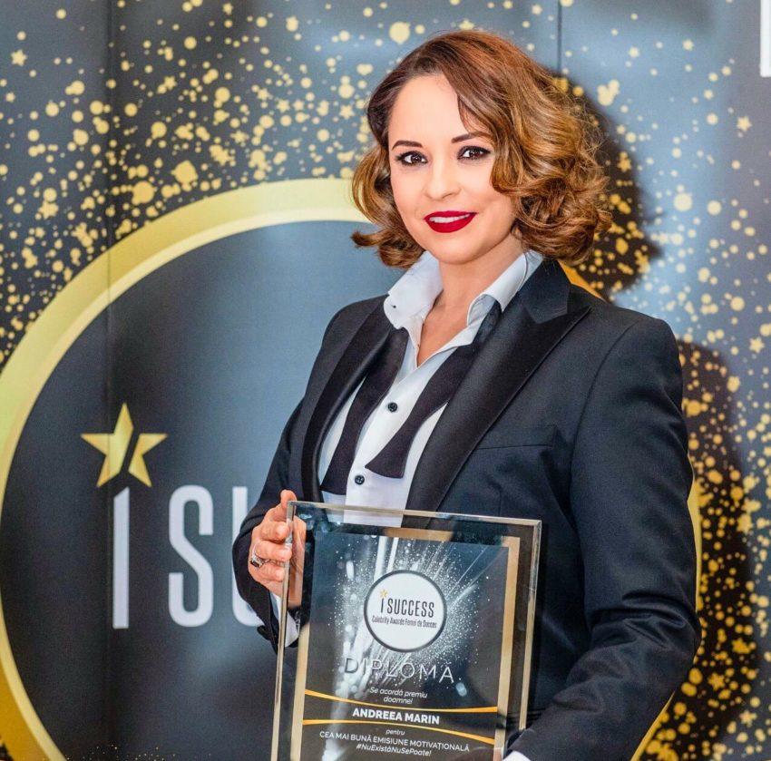 """Andreea Marin a fost premiată în cadrul galei ,,I Success – Femei de succes"""" 2020"""