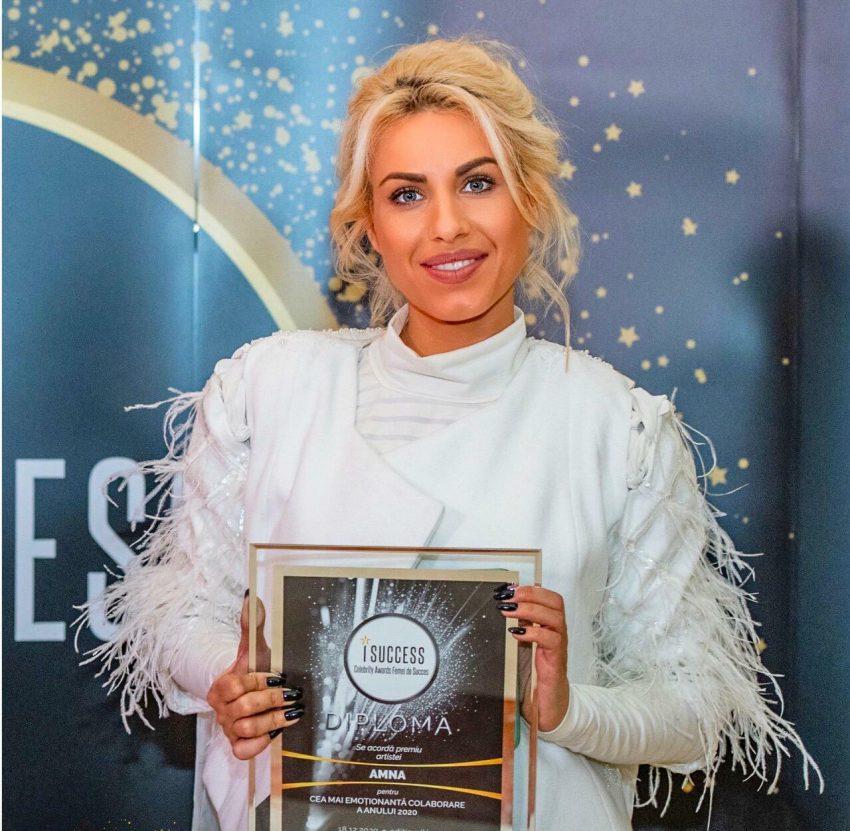 """Amna a fost premiată în cadrul galei ,,I Success – Femei de succes"""" 2020"""