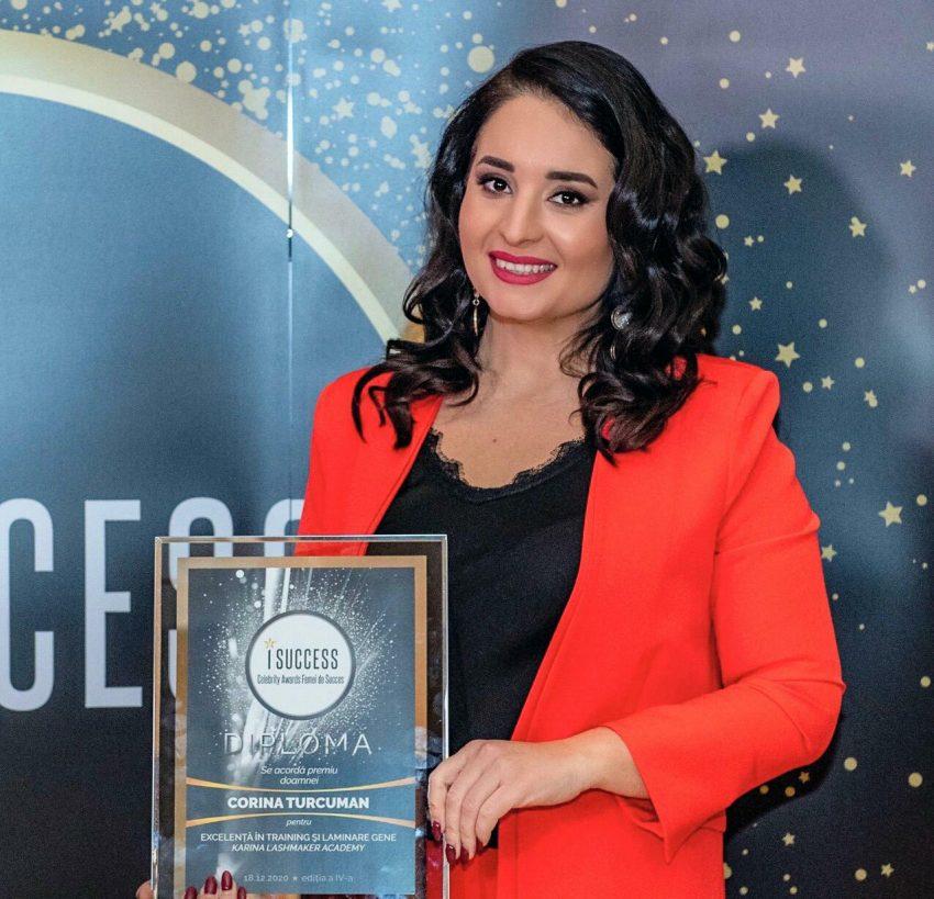 """Corina Turcuman a fost premiată în cadrul galei ,,I Success – Femei de succes"""" 2020"""
