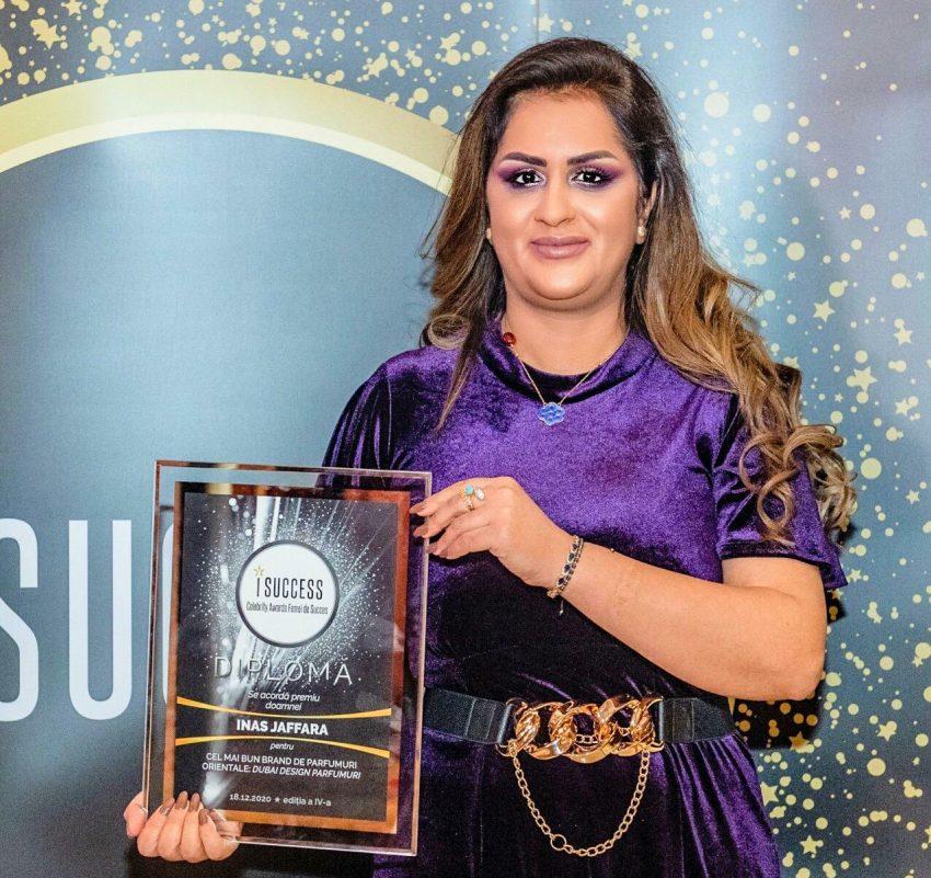 """Inas Jaffar a fost premiată în cadrul galei ,,I Success – Femei de succes"""" 2020"""