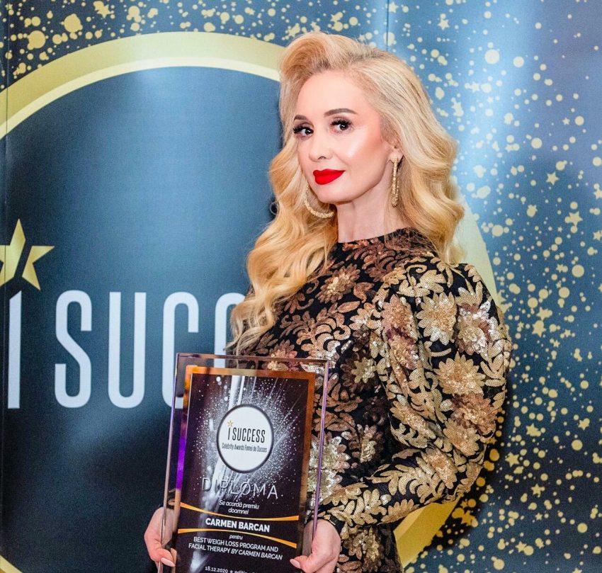 """Carmen Barcan a fost premiată în cadrul galei ,,I Success – Femei de succes"""" 2020"""