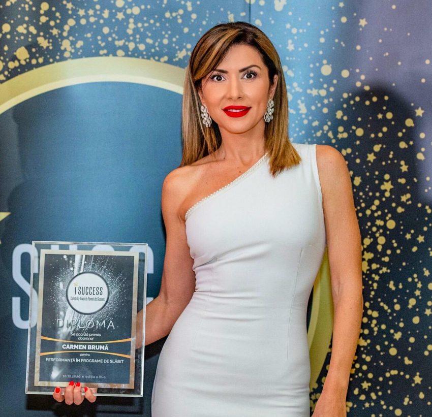 """Carmen Brumă a fost premiată în cadrul galei ,,I Success – Femei de succes"""" 2020"""