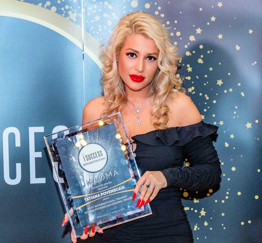 """Tatiana Povenscaia a fost premiată în cadrul galei ,,I Success – Femei de succes"""" 2020"""