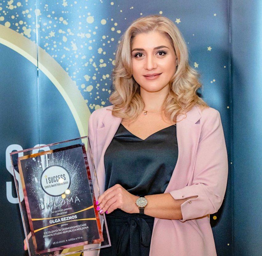 """Olga Beznos a fost premiată în cadrul galei ,,I Success – Femei de succes"""" 2020"""