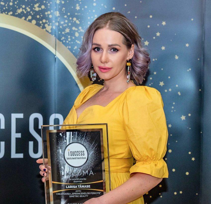 """Larisa Tănase a fost premiată în cadrul galei ,,I Success – Femei de succes"""" 2020"""