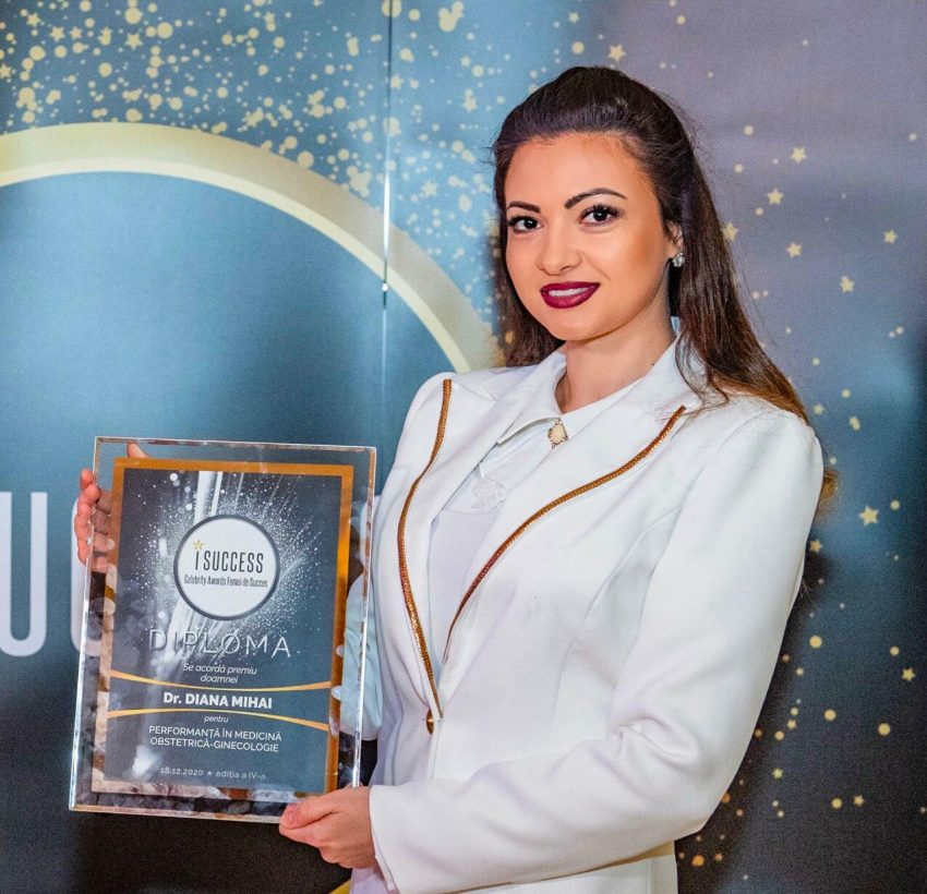 """Dr. Diana Mihai a fost premiată în cadrul galei ,,I Success – Femei de succes"""" 2020"""