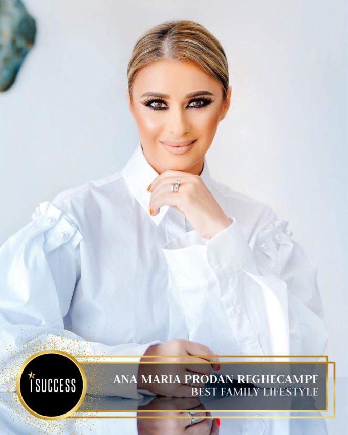 "Ana Maria Prodan Reghecampf a primit premiul pentru ,,Best Family Lifestyle"""