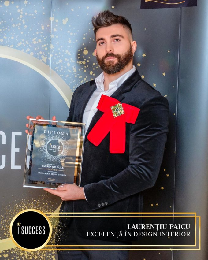 """Laurenţiu Paicu a primit premiul pentru  ,,Excelenţă în arhitectură şi design interior"""""""