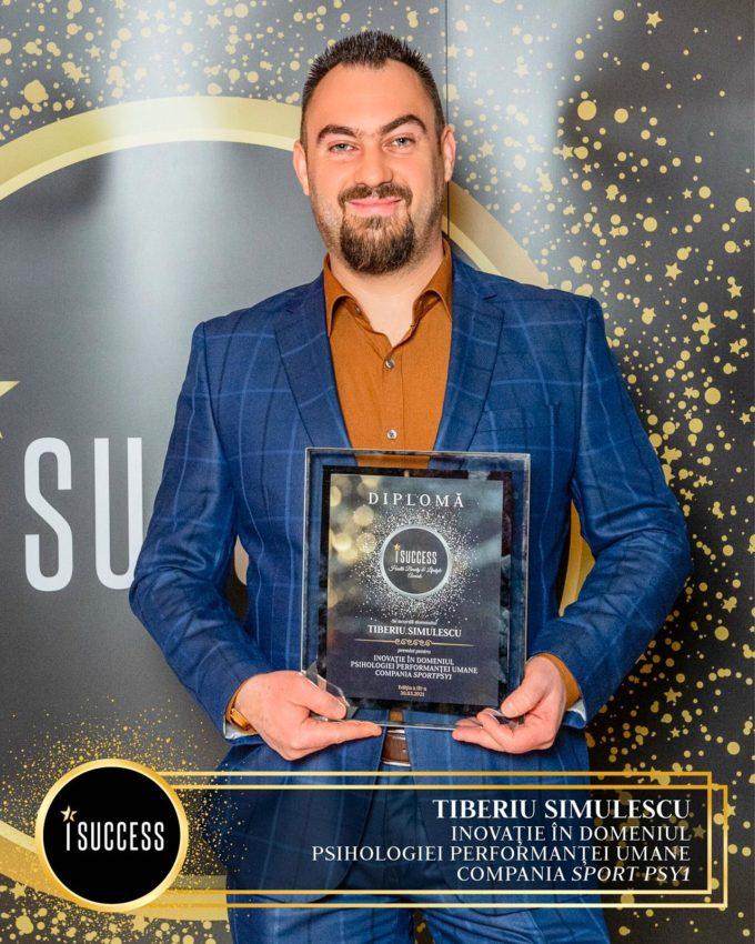 Tiberiu Simulescu și Silviu Ioniţă au primit premiul pentru ,,Inovație în domeniul Psihologiei Performanței Umane Compania Sport Psy1″