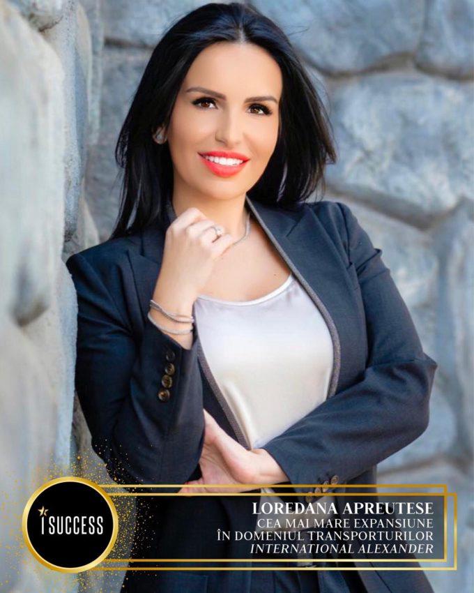 """Loredana Apreutese a primit premiul pentru ,,Cea mai mare expansiune în domeniul transporturilor"""" International Alexander"""