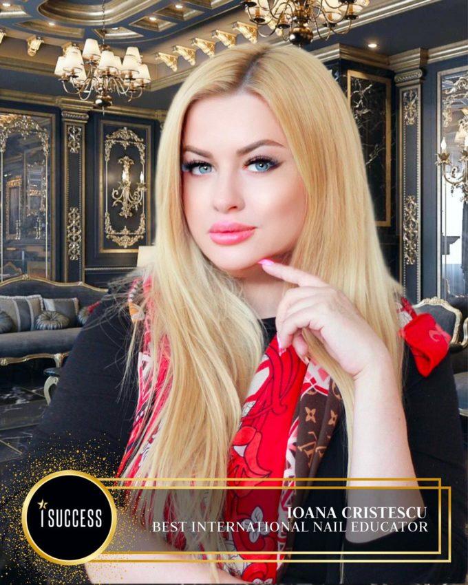 """Ioana Cristescu a primit premiul premiul pentru ,,Best International Nail Educator"""""""
