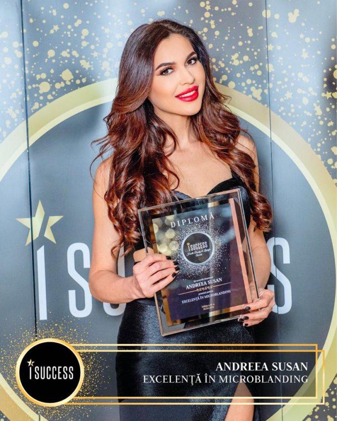 """Andreea Susan a primit premiul pentru ,,Excelenţă în Microblading"""""""