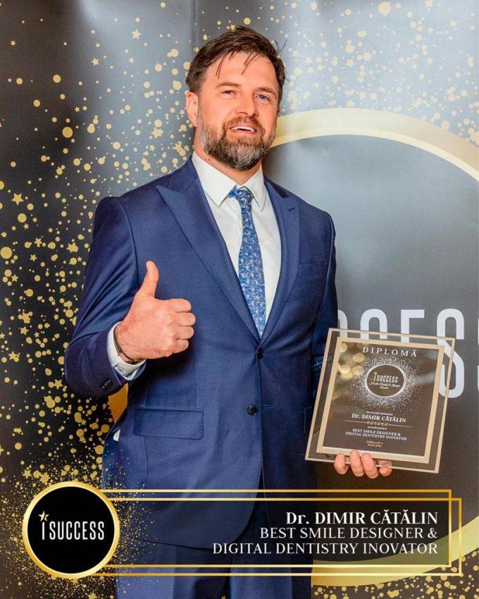"""Dr. Cătălin Dimir a primit premiul pentru ,,Best Smile Designer & Digital Dentistry Inovator"""""""
