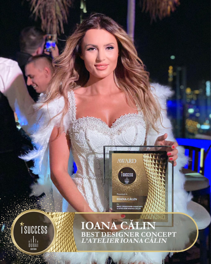 """Ioana Călin a primit premiul pentru ,,Best Designer Concept"""" – L'Atelier By Ioana Călin – România"""