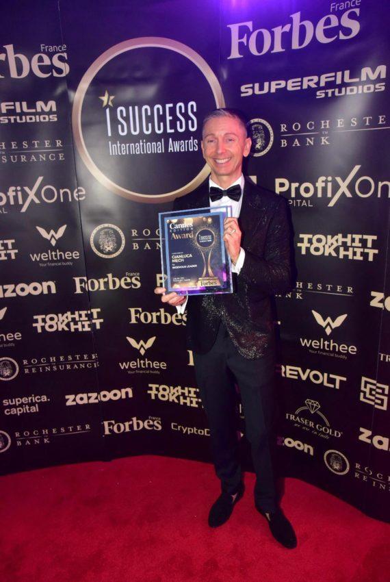 """Gianluca Mech a primit premiul pentru,,Ingenious Leader"""" la gala I Success Awards – Cannes Edition"""