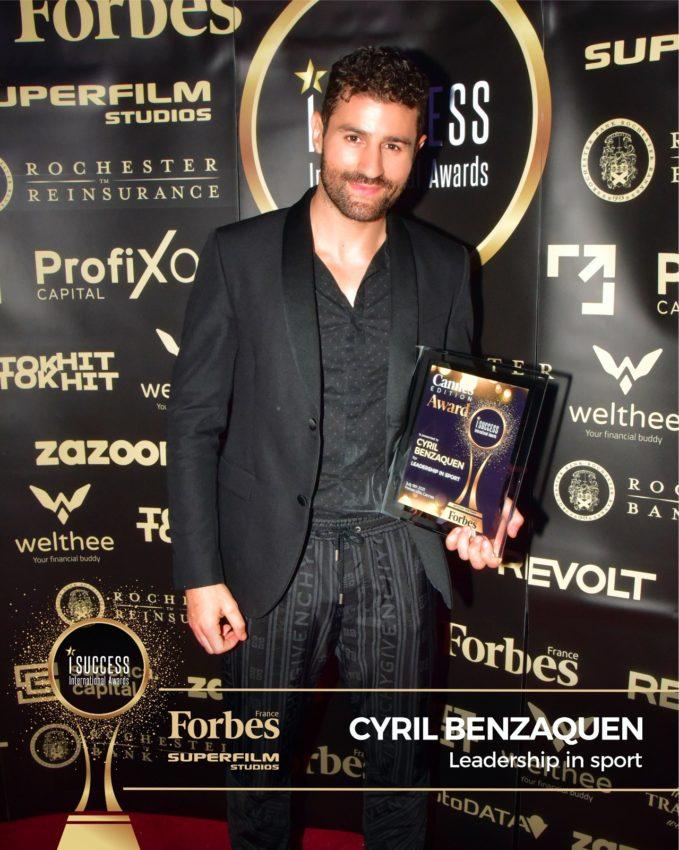 "Cyril Benzaquen a primit premiul pentru,,Leadership in Sport"" la gala I Success Awards – Cannes Edition"