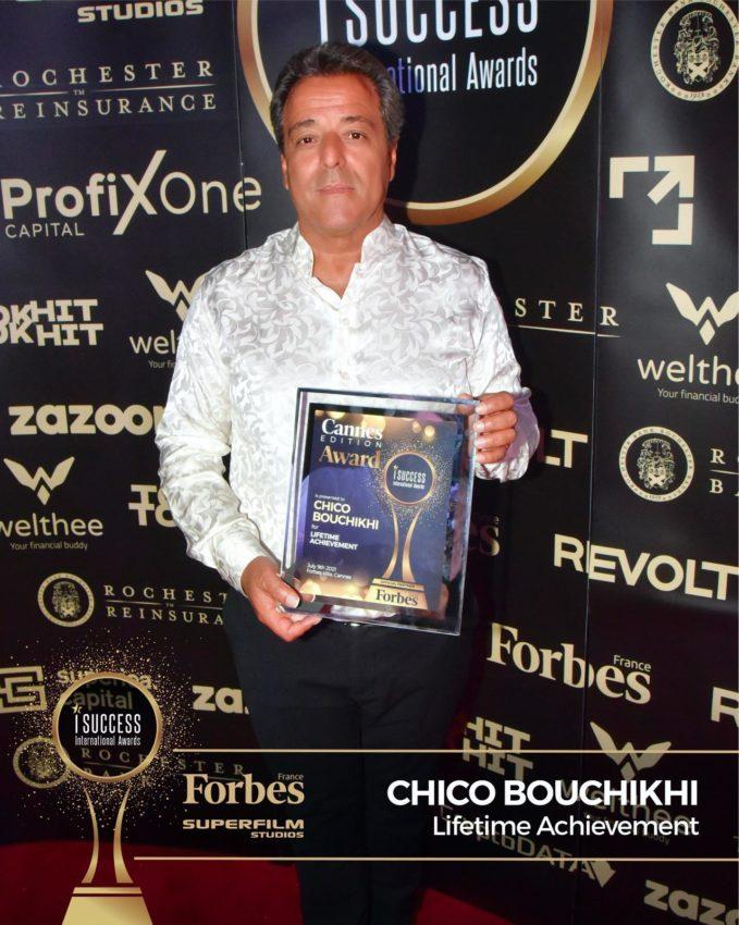 """Chico Bouchikhi a primit premiul pentru,,Lifetime Achievement"""" la gala I Success Awards – Cannes Edition"""