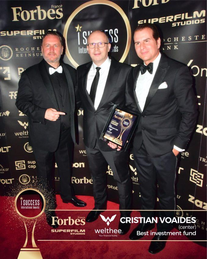 "Cristian Voaides a primit premiul pentru,,Best Investment Fund"" – Welthee la gala I Success Awards – Cannes Edition"