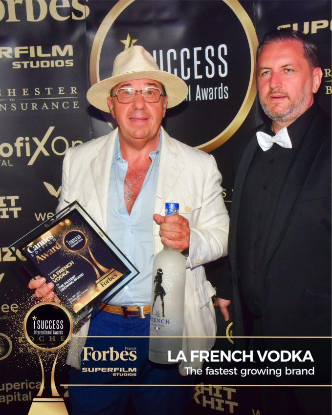 "La French Vodka a primit premiul pentru,,The Fastest-Growing Brand"" la gala I Success Awards – Cannes Edition"