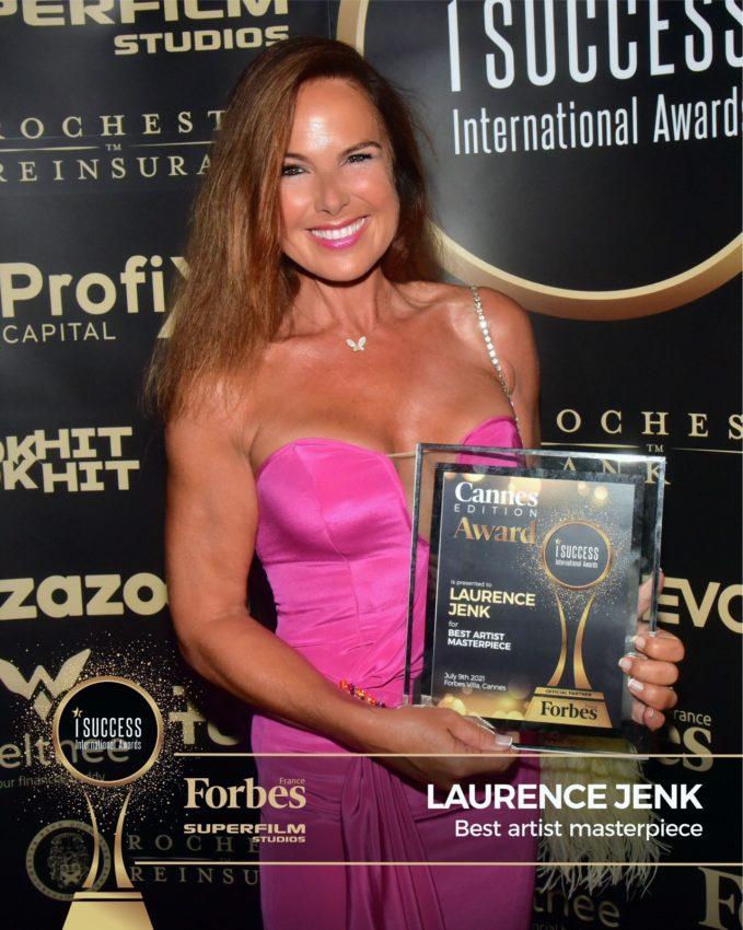 """Laurence Jenk a primit premiul pentru,,Best Artist Masterpiece"""" la gala I Success Awards – Cannes Edition"""