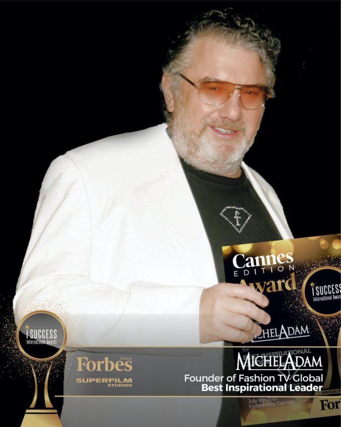 """Michel Adam a primit premiul pentru,,Best Inspirational Leader"""" la gala I Success Awards – Cannes Edition"""