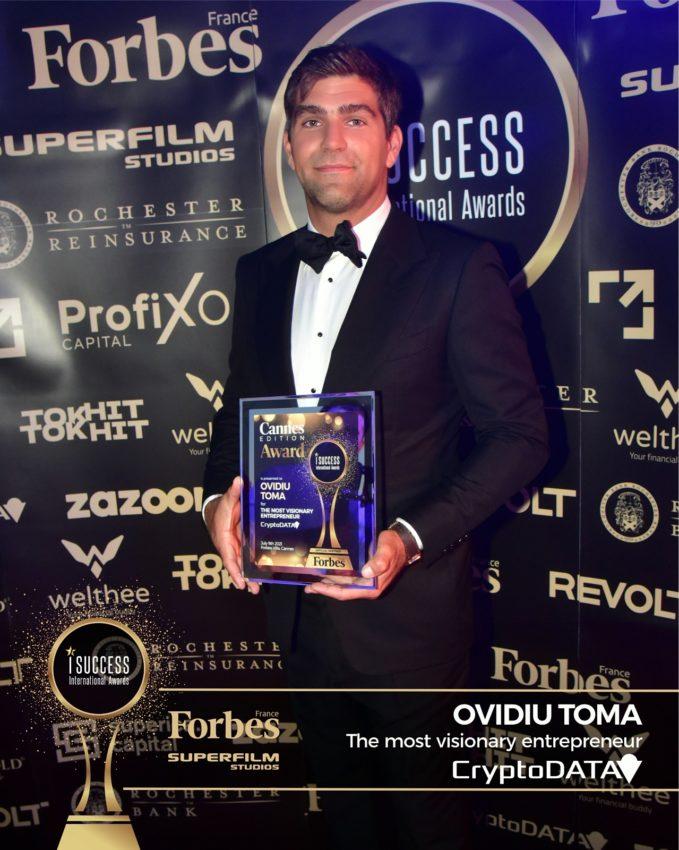 "Ovidiu Toma a primit premiul pentru,,The most visionary entrepreneur"" la gala I Success Awards – Cannes Edition"