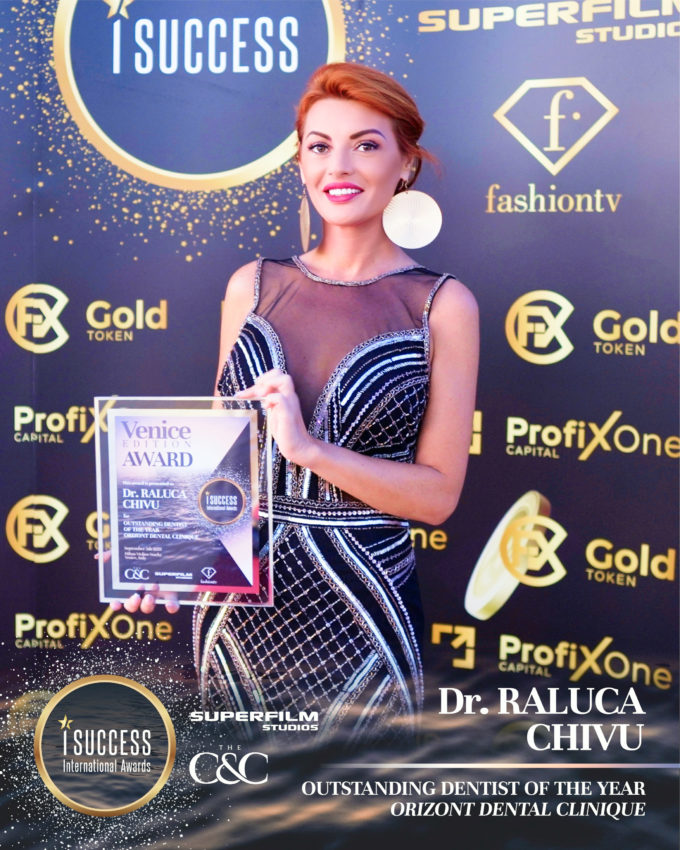 "Raluca Chivu a primit premiul pentru ,,Outstanding Dentist Of The Year"" – Orizont Dental Clinique"