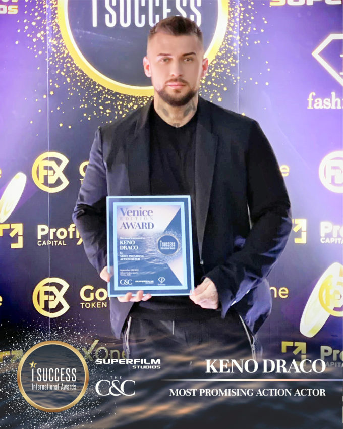 "Keno Draco a primit premiul pentru ,,Most Promising Action Actor"""